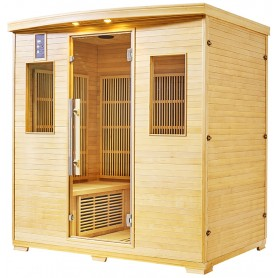 Sauna infrarouge NORDICA® CARBONE 4 PLACES 180x120