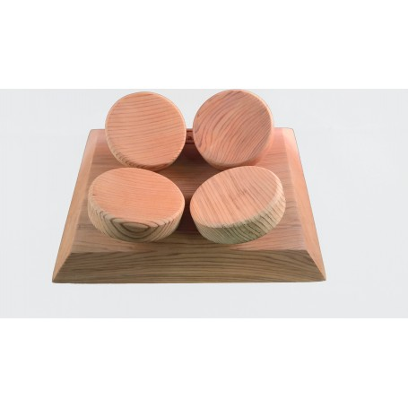 1 Appui-tête ergonomique pour sauna en Cèdre Rouge massif