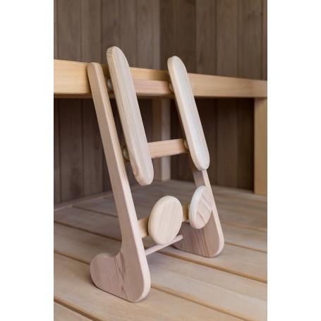 1 Support dorsal ergonomique pour sauna en Cèdre Rouge massif