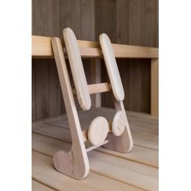SUGGESTION Support dorsal ergonomique pour sauna en Cèdre Rouge massif