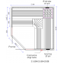 Schéma Sauna Boreal® Evasion Club Pro 214C - 214*214*210