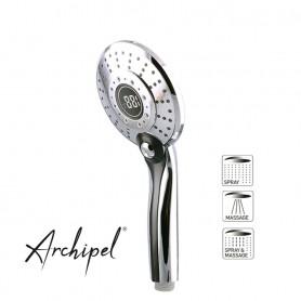 Douche à main digitale à LED Archipel affichage de la température