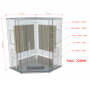 Sauna infrarouge NORDICA® CARBONE 2/3 PLACES 125x125