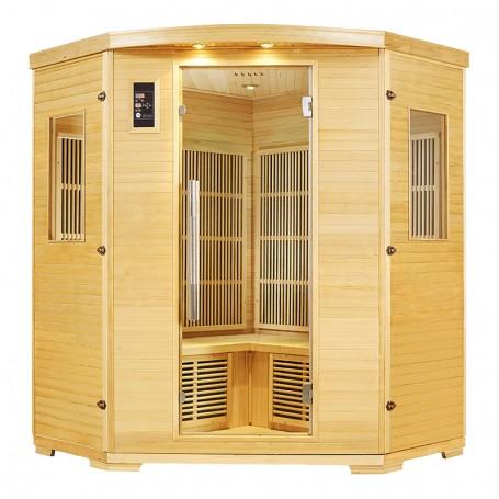 Sauna Nordica Carbone d'angle 3/4 places 150*150