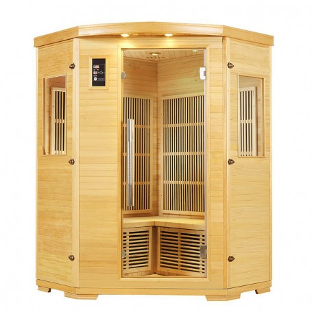 Sauna Nordica Carbone d'angle 2/3 places 125*125
