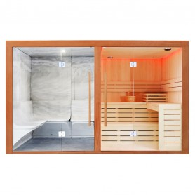 Combi Sauna Hammam Boreal® Sublimation - 8 places - 340*175*210