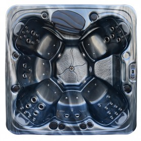 Spa RONDINARA GRIS ANTHRACITE / TABLIER GRIS Zeland® - Jacuzzi Balboa® 6 places 220 x 220 cm