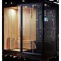 Combi Sauna Douche Hammam Boreal® SH220-G-Black Edition - gauche