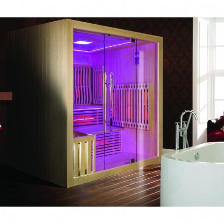 Sauna Combi Boreal® Elégance 180x180 Infrarouge + Vapeur