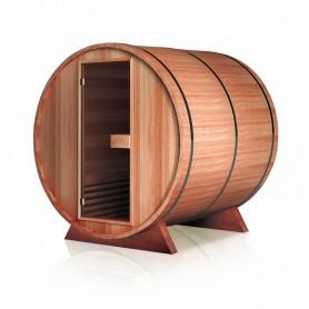 Sauna extérieur en Cèdre rouge Boreal(R) TRC - Tonneau Barrel 180 * 180