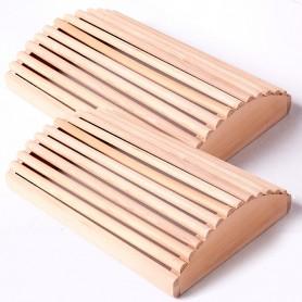 2 reposes-tête en bois d'Hemlock pour Sauna