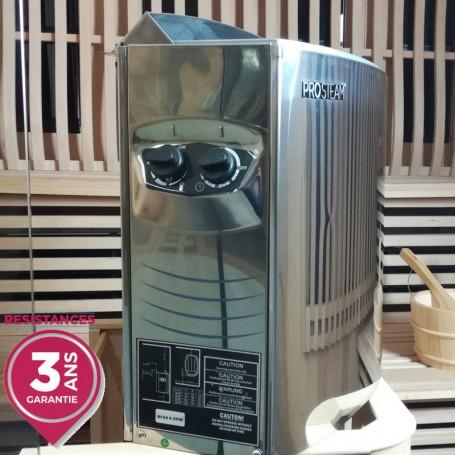 Pôele pour sauna Pro Steam® 6kW INOX - commandes intégrées