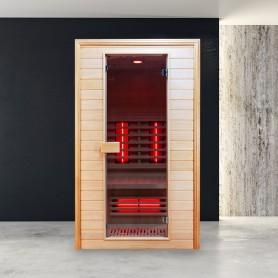 Sauna Infrarouge Boreal® Diffusion 120 -  2 places à Spectre Complet - 120x120