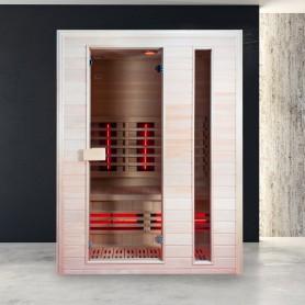 Sauna Infrarouge Boreal® Diffusion 150 - 2 places à Spectre Complet - 150x110 - 2
