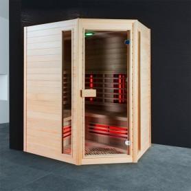 Sauna Infrarouge Boreal® Diffusion 140C - 3-4 places à Spectre Complet - 140x140 - 1
