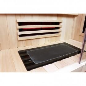 Sol en verre chauffant pour sauna Boreal 110 / 130 / 130C / 150C
