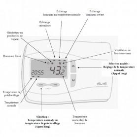 Console digitale WELLNESS pour générateur de vapeur LEHnéo