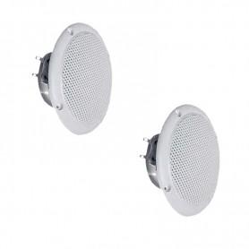 Deux hauts parleurs pour hammam - couleur BLANC