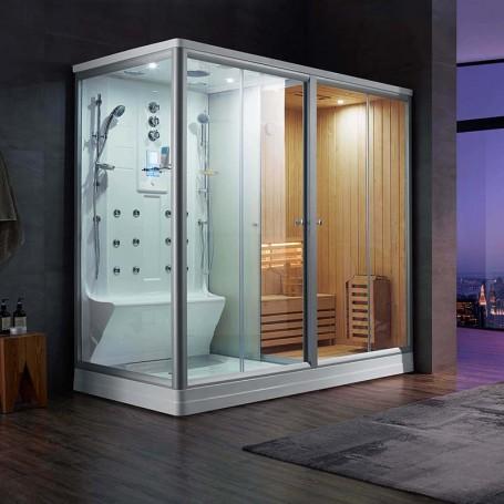 Combi Sauna Douche Hammam Boreal® SH220D - droite